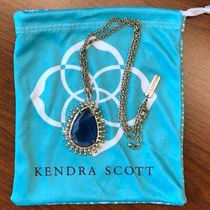 Vintage Kendra Scott Necklace Deep Blue